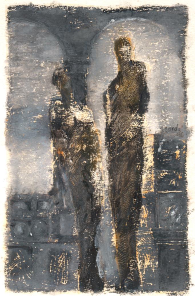 1996 Sin título, óleo sobre papel, 16.5x11 cms